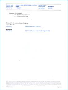 ABS美国船级社检验证书3